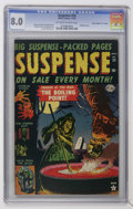 "Golden Age (1938-1955):Horror, Suspense #24 Davis Crippen (""D"" Copy) pedigree (Atlas, 1952) CGC VF8.0 Off-white to white pages...."