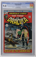 Bronze Age (1970-1979):Horror, Tomb of Dracula #1 (Marvel, 1972) CGC VF/NM 9.0 Off-white to whitepages....