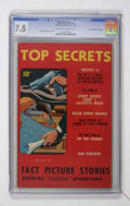 "Golden Age (1938-1955):Crime, Top Secrets #2 Davis Crippen (""D"" Copy) pedigree (Street & Smith, 1948) CGC VF- 7.5 Off-white to white pages...."