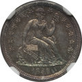 Seated Dimes: , 1856 10C Small Date MS64 NGC. NGC Census: (31/26). PCGS Population(23/25). Mintage: 5,780,000. Numismedia Wsl. Price for p...