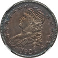 Bust Half Dollars: , 1824 50C --Improperly Cleaned--NGC Details. Unc. O-113. NGC Census:(4/239). PCGS Population (8/159). Mintage: 3,504,954. N...