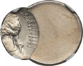 Errors, 1957-D 5C Jefferson Nickel -- Struck 60% Off Center -- MS67 NGC. Ex: New England Collection....