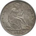 Seated Half Dollars: , 1843 50C MS62 PCGS. PCGS Population (13/26). NGC Census: (19/37).Mintage: 3,844,000. Numismedia Wsl. Price for problem fre...