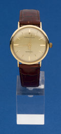 Timepieces:Wristwatch, Tiffany & Co Gents 14k Gold Automatic Wristwatch. ...