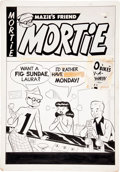 Original Comic Art:Covers, Mortie #3 Cover Original Art (Magazine Publishers, 1953)....