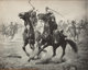 CHARLES SCHREYVOGEL (American, 1861-1912) The Duel, November 1, 1902 Poster print 16 x 20 in. Signed lower left in i