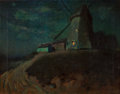 Fine Art - Painting, American:Modern  (1900 1949)  , CHARLES ROLLO PETERS (American, 1862-1928). Landscape withWindmill. Oil on canvas . 18 x 23 inches (45.7 x 58.4 cm).Si...