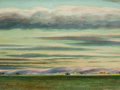Works on Paper, PETER HURD (American, 1904-1984). Taos Sunset. Watercolor on paper. 17 x 23 inches (43.2 x 58.4 cm). Signed lower left: ...