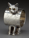 Silver Holloware, American:Napkin Rings, AN AMERICAN SILVER-PLATED FIGURAL NAPKIN RING . Attributed toWilcox Silver Plate Co., Meriden, Connecticut, circa 1875. Unm...