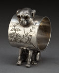 Silver Holloware, American:Napkin Rings, AN AMERICAN SILVER-PLATED FIGURAL NAPKIN RING . Attributed toWilcox Silver Plate Co., Meriden, Connecticut, circa 1875. 2-1...