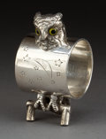 Silver Holloware, American:Napkin Rings, AN AMERICAN SILVER-PLATED FIGURAL NAPKIN RING . Maker unknown,American, circa 1875. Unmarked. 3-1/4 inches high (8.3 cm). 4...