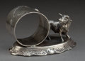 Silver Holloware, American:Napkin Rings, A KNICKERBOCKER SILVER-PLATED FIGURAL NAPKIN RING . KnickerbockerSilver Co., Port Jervis, New York, circa 1895. Marks: MA...