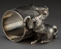 Silver Holloware, American:Napkin Rings, AN AMERICAN SILVER-PLATED FIGURAL NAPKIN RING . Maker unknown,American, circa 1875. Unmarked. 2-1/4 inches high (5.7 cm). 7...