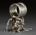 Silver Holloware, American:Napkin Rings, A REED & BARTON SILVER-PLATED FIGURAL NAPKIN RING . Reed &Barton, Taunton, Massachusetts, circa 1875. Marks: MF'D &PLAT...