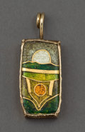 Silver & Vertu:Smalls & Jewelry, A WILLIAM HARPER GOLD CLOISONNÉ ENAMEL PENDANT ON ROPE CHAIN . William Harper, New York, New York, 1980. Marks: William Ha...