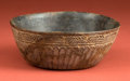 American Indian Art:Pottery, Molded Mayan Offering Bowl ...
