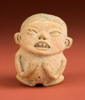 American Indian Art:Pottery, Pre-Classic Obese Seated Figure...