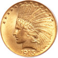 Indian Eagles, 1913 $10 MS64+ PCGS. CAC....