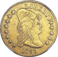 Early Eagles, 1799 $10 Small Stars Obverse -- Damaged -- NGC Details. AU. Irregular Date, Breen-6840, Taraszka-19, BD-7....