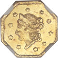 California Fractional Gold, 1855/4 $1 Liberty Octagonal 1 Dollar, BG-511, High R.4, MS64NGC....