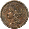 Patterns, 1865 3C Three Cent Nickel, Judd-413, Pollock-484, R.5, PR62 BrownPCGS. CAC....