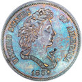 Patterns, 1859 P50C Half Dollar, Judd-242, Pollock-298, R.5, PR65 Brown PCGS.CAC....