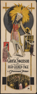 "Movie Posters:Romance, Her Gilded Cage (Paramount, 1922). Insert (14"" X 36""). Romance....."