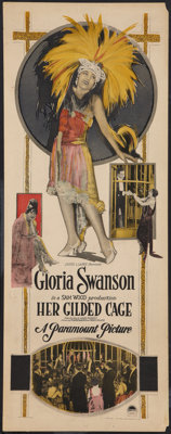"Her Gilded Cage (Paramount, 1922). Insert (14"" X 36""). Romance"