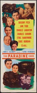 """Movie Posters:Hitchcock, The Paradine Case (Selznick, R-1956). Insert (14"""" X 36"""").Hitchcock.. ..."""