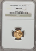 Commemorative Gold, 1915-S G$1 Panama-Pacific Gold Dollar MS65+ NGC....