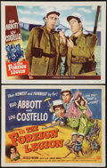 """Movie Posters:Comedy, Abbott and Costello in the Foreign Legion (Universal International, 1950). Title Lobby Card and Lobby Card (11"""" X 14""""). Come... (Total: 2 Items)"""