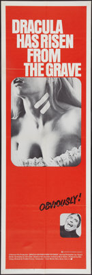 """Dracula Has Risen From the Grave (Warner Brothers, 1969). Door Panel (20"""" X 60""""). Horror"""