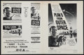 "Movie Posters:Science Fiction, Plan 9 from Outer Space (DCA, 1958). Uncut Pressbook (4 Pages, 8.5""X 11""). Science Fiction.. ..."