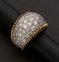 Estate Jewelry:Rings, Gold Pave Diamond Ring. ...
