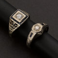 Estate Jewelry:Rings, Antique Gold & Diamond Rings. ... (Total: 2 Items)