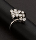 Estate Jewelry:Rings, Diamond Cluster Ring. ...