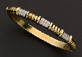 Estate Jewelry:Bracelets, Gold & Diamond Bracelet. ...