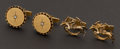 Estate Jewelry:Cufflinks, Two 14k Gold Cufflinks Sets. ... (Total: 2 Items)