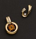 Estate Jewelry:Other , Two Gold Enhancer's. ... (Total: 2 Items)