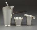 Silver Holloware, American:Coffee Pots, AN ALLAN ADLER THREE-PIECE SILVER COFFEE SET . Allan Adler, Inc,Hollywood, California, circa 1950 . Marks: ALLAN ADLER, S...(Total: 3 Items)