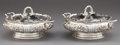 Silver Holloware, American:Vegetable Dish, A PAIR OF DOMINICK & HAFF SILVER COVERED VEGETABLE SERVINGDISHES . Dominick & Haff, New York, New York, 1893. Marks:925 ... (Total: 2 Items)