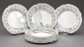 Silver Holloware, American:Plates, A CALDWELL SET OF TWELVE SILVER BREAD AND BUTTER PLATES . J.E.Caldwell & Co., Philadelphia, Pennsylvania, circa 1880.Marks... (Total: 12 Items)