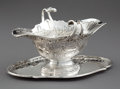 Silver Holloware, Continental:Holloware, A FRENCH SILVER SAUCEBOAT WITH ATTACHED UNDERPLATE . Unidentifiedmaker, probably Paris, France, circa 1760. Marks: (effaced...