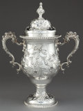 Silver Holloware, American:Cups, A DURGIN SILVER TWO-HANDLED COVERED CUP . Wm. B. Durgin Co.,Concord, New Hampshire and Providence, Rhode Island, circa 190...