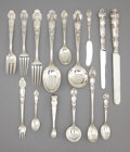 Silver & Vertu:Flatware, A TIFFANY & CO. THREE-HUNDRED AND THREE PIECE SILVER FLATWARE SERVICE. Tiffany & Co., New York, New York, circa 1905. Marks:... (Total: 303 Items)