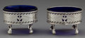 Silver Holloware, British:Holloware, A PAIR OF HESTER BATEMAN GEORGE III SILVER SALTS WITH GLASS LINERS. Hester Bateman, London, England, circa 1783-1784. Marks...(Total: 2 Items)