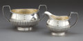 Silver Holloware, British:Holloware, A ROBERT & SAMUEL HENNELL SILVER CREAMER AND SUGAR BOWL .Robert & Samuel Hennell, London, England , circa 1804-1805.Marks:... (Total: 2 Items)
