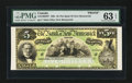 Canadian Currency: , Saint John, NB- The Bank of New Brunswick $5 (March 25, 1892) Ch. #515-16-02FP Face Proof . ...