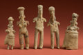 American Indian Art:Pottery, Collection of Five Unusual Jalisco Figurines... (Total: 5 Items)