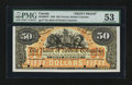 Canadian Currency: , Victoria, BC- The Bank of British Columbia $50 Jan. 1, 1894 Ch. #50-16-08FP Face Proof. ...